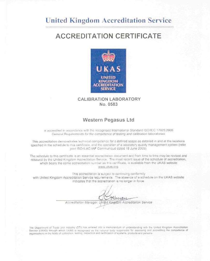 UKAS – ISO Certified UKAS CERT copy