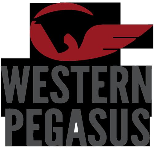 western pegasus logo tall